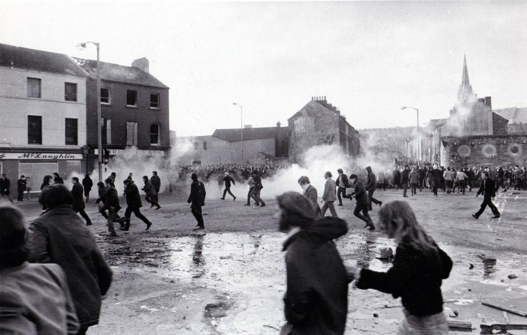 Image: Demonstrators in Londonderry, Northern Ireland, flee on Bloody Sunday.