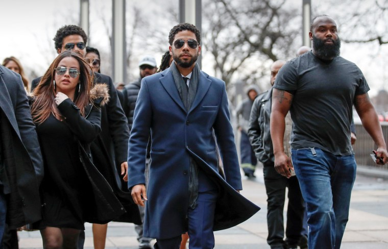 Image: Actor Jussie Smollett arrives at the Leighton Criminal Court Building in Chicago