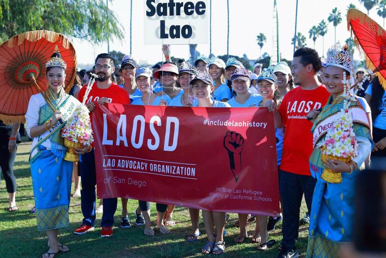 Members of LaoSD at a Lao boat racing festival.