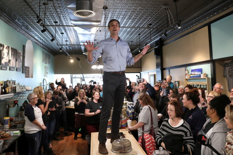 Image: Beto O'Rourke Campaigns in Burlington