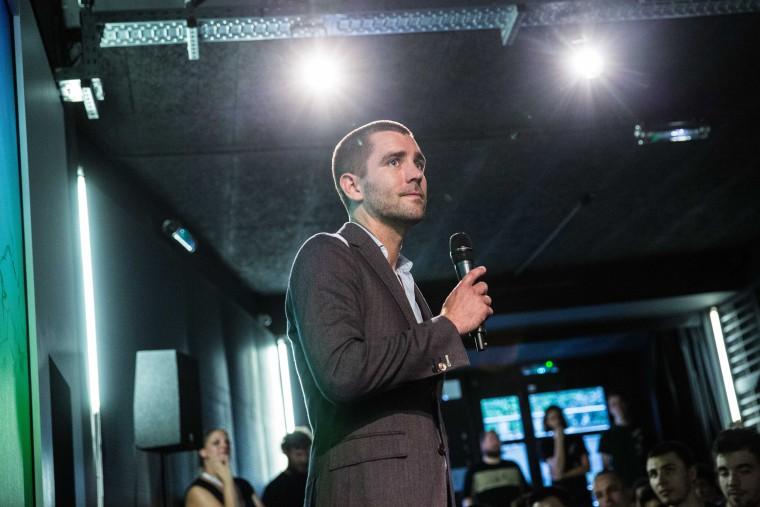 Chris Cox, Chief Product Officer de Facebook Visits Ecole 42 in PAris