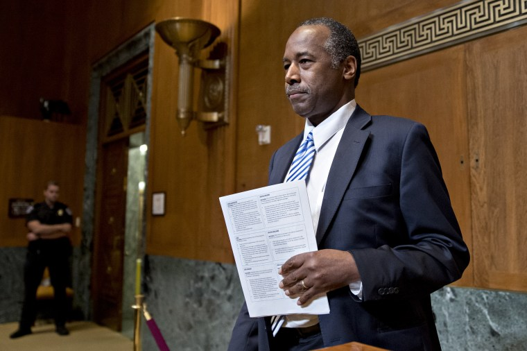 Ben Carson's schedule shows Friday trips to Florida, lunch with My Pillow founder