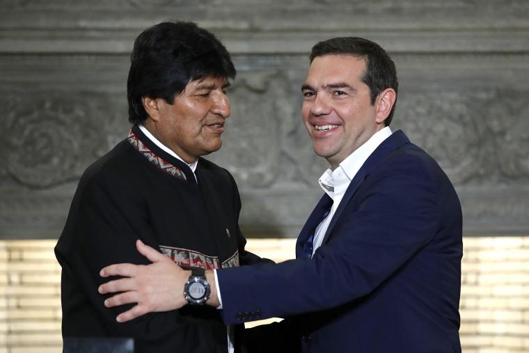 Image: Alexis Tsipras, Evo Morales