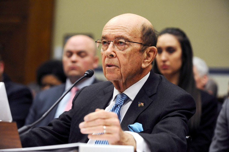 Image: U.S. Commerce Secretary Wilbur Ross testifies at a House Oversight and Reform Committee hearing