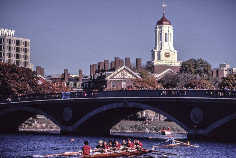 Image: Harvard Crew Practice On Charles River