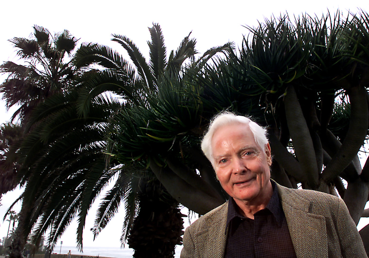 Image: LaJolla Award winning poet W.S. Merwin, a resident of Maui, Hawaii, shown here wtih yucca and palm