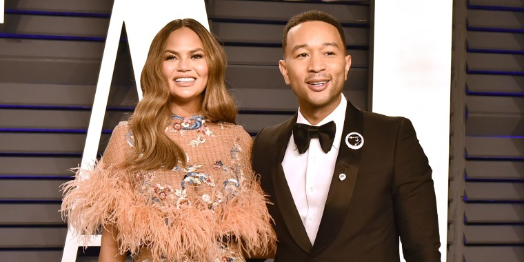 Chrissy Teigen's blunt-cut bob and bangs are inspired by an '80s style icon