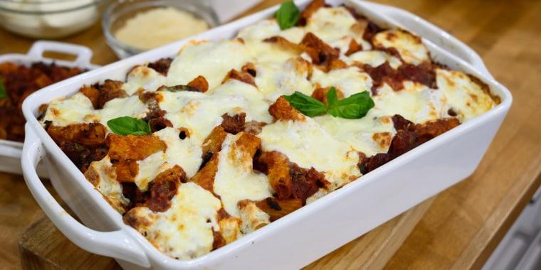 Alberti Twins' Pasta Bake + Bomboloni