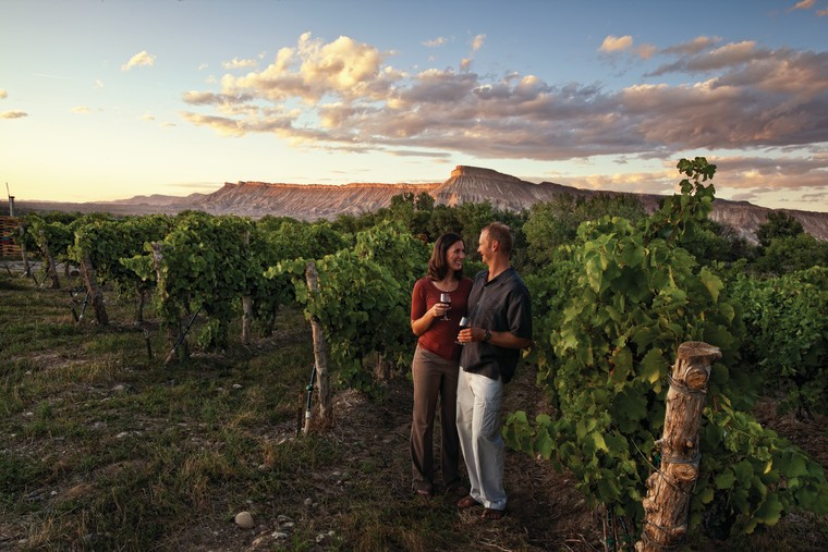 couple wine tasting in Grand Junction, Colorado