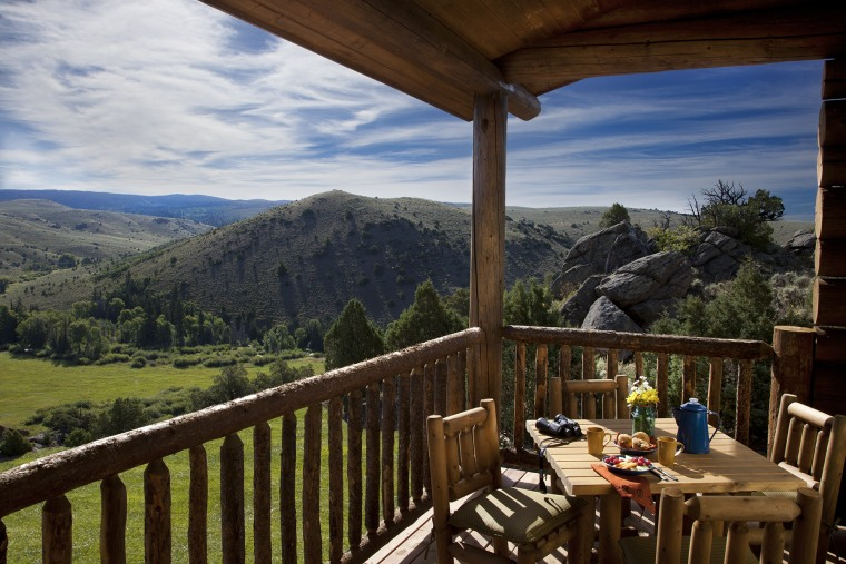 Cabin view at Brush Creek Lodge & Spa in Saratoga, Wyoming