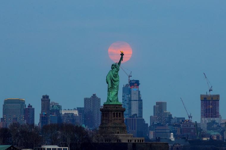 Super Worm Equinox Moon in New York