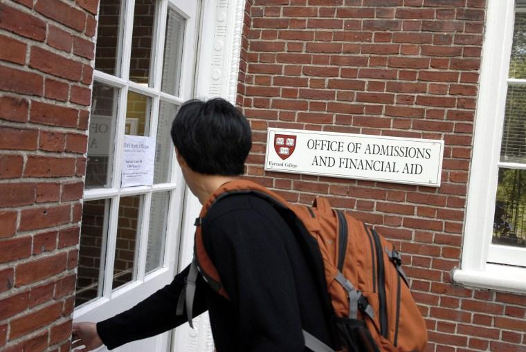 Image: Harvard admissions