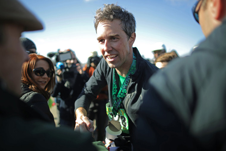 Image: Beto O'Rourke Begins First Campaign Swing In Iowa As A Presidential Candidate