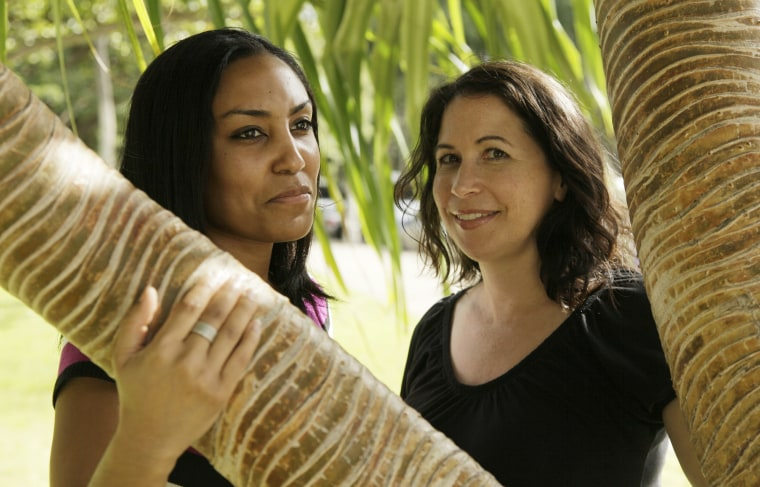 Image: Taeko Bufford, left, and Diane Cervelli near Waikiki Beach in Honolulu on Dec. 19, 2011.