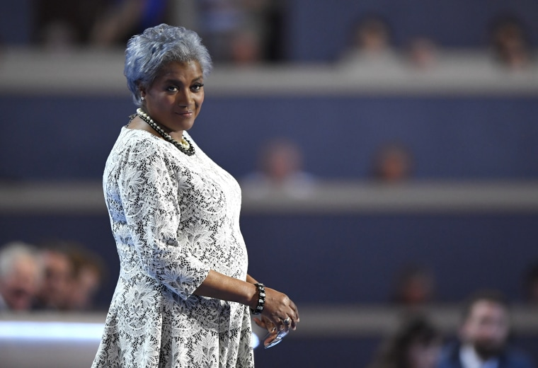 Image: Donna Brazile takes the stage at the Democratic National Convention in Philadelphia on July 26, 2016.