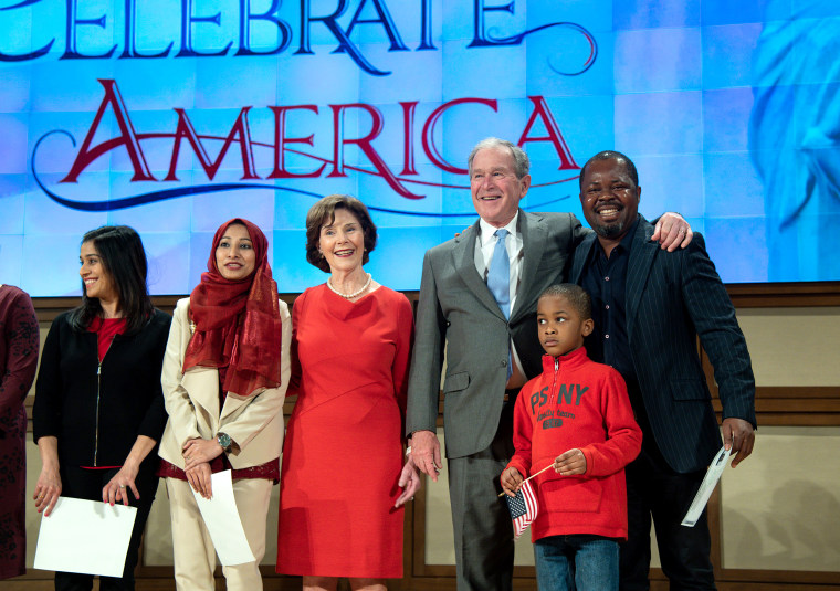 George W. Bush and Mrs. Bush honored America's immigrant heritage with an official immigration naturalization ceremony on March 18, 2019.