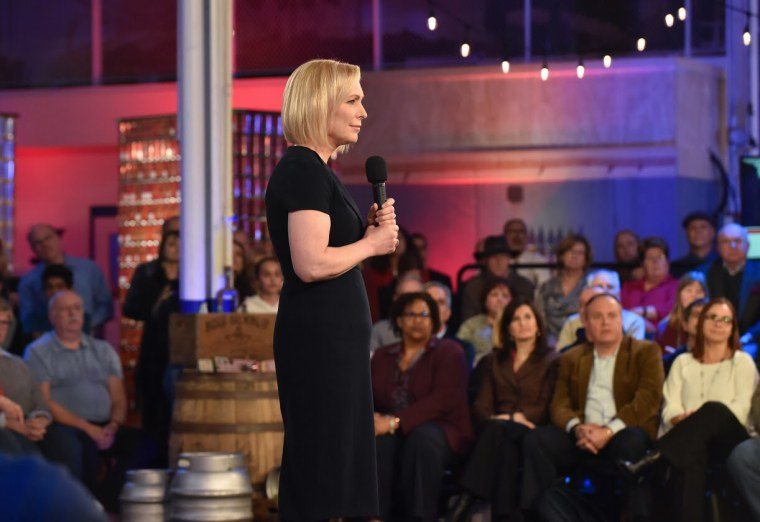 Image: Sen. Kirsten Gillibrand speaks at a town hall with MSNBC's Chris Hayes in Auburn Hills, Michigan.