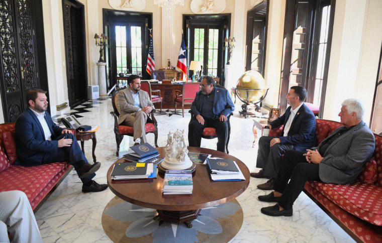 Image: Puerto Rican Governor Ricardo Rossello meets with the U.S. House Natural Resources Committee.