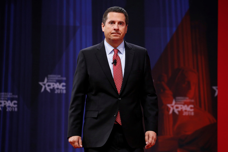 Image: House Intelligence Committee Chairman Devin Nunes arrives to speak at the Conservative Political Action Conference at National Harbor
