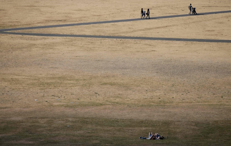 Image: Visitors at Greenwich Park, London