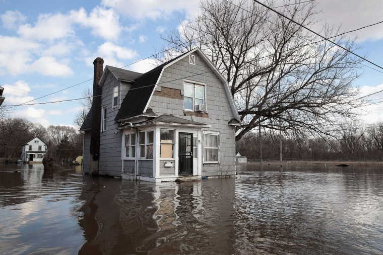 Image: After Heavy Snows, Midwest Rivers Flood Their Banks