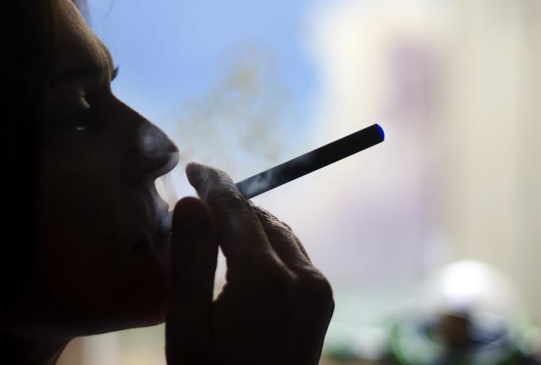 Image: Blue E-cigarette