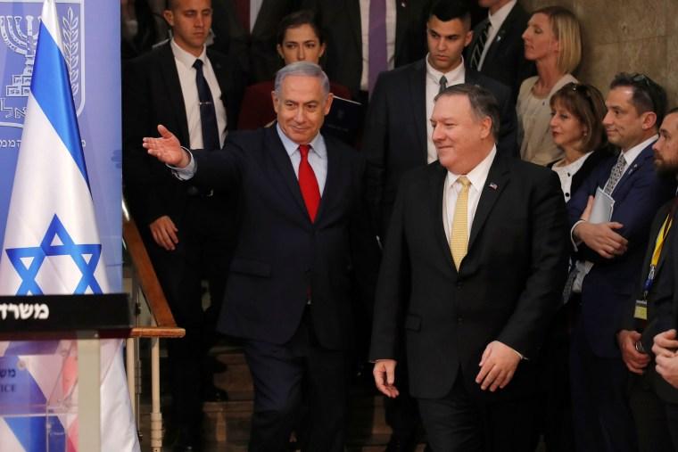 Image: Mike Pompeo, Benjamin Netanyahu, USA, Israel, Politics