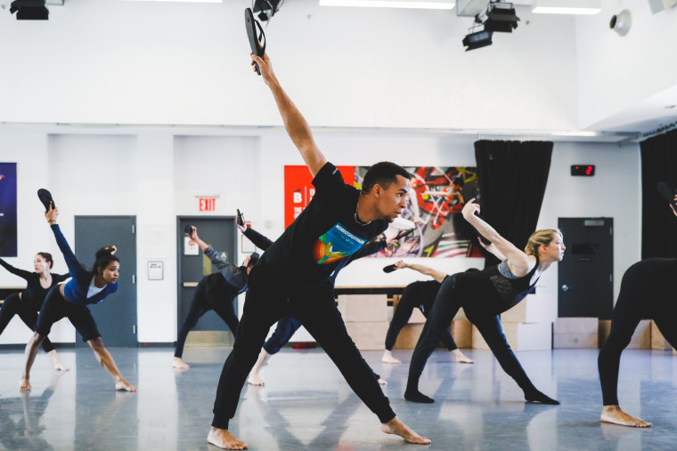 "Ballet Hispánico dancers rehearse ""Homebound/Alaala,"" choreographer Bennyroyce Royon's new work, in New York City."