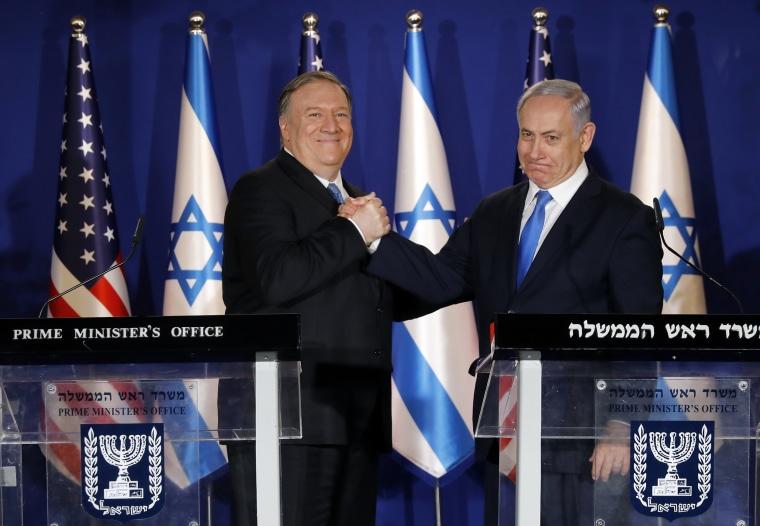 Image: Mike Pompeo, Benjamin Netanyahu