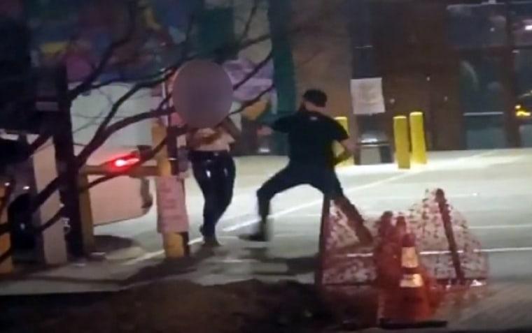 Image: Dallas parking lot assault