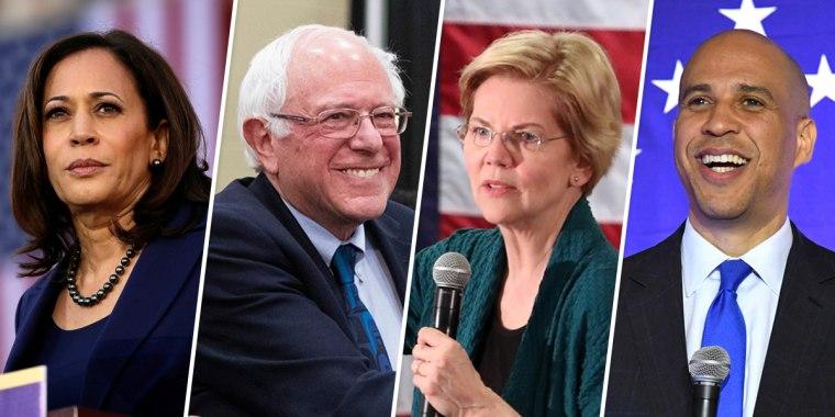 Image: Kamala Harris, Bernie Sanders, Elizabeth Warren, Cory Booker