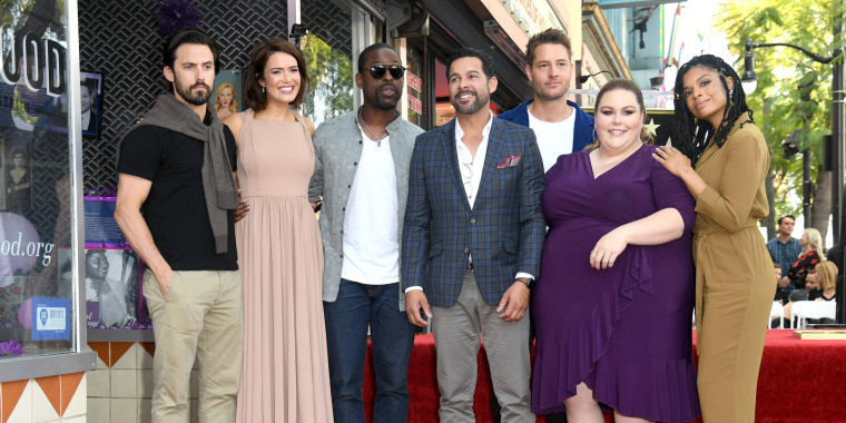 Mandy Moore supported by 'This Is Us' family as she receives Walk of Fame star