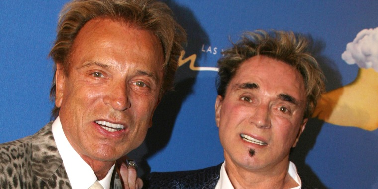 Siegfried Fischbacher and Roy Horn in Las Vegas in 2007