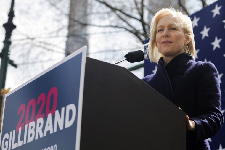 Image: Sen. Kirsten Gillibrand, D-NY, speaks at the kickoff event of her presidential campaign near the Trump International Hotel and Tower in New York on March 24, 2019.