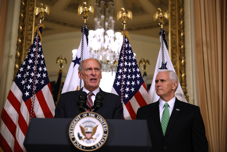 Image: Mike Pence Swears In Dan Coats As Director Of National Intelligence