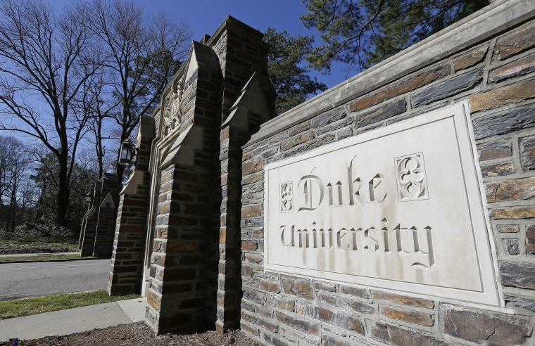 Image: The entrance to the main Duke University campus in Durham, N.C