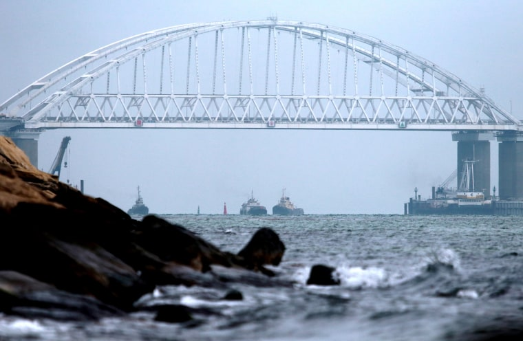 Image: The Crimean Bridge across the Kerch Strait on Nov. 26, 2018.