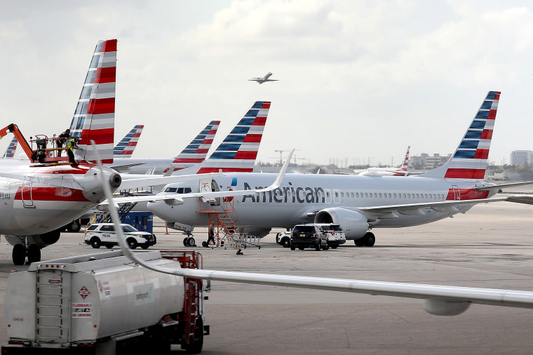 Image: Boeing 737 MAX Planes Stranded At U.S. Airports  As Flights Are Halted