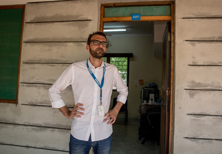 Image: Pietro Fossati, a UNHCR resettlement officer in Dadaab.