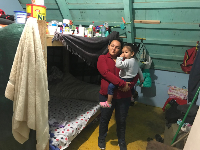 Vanesa Castro, 30, and her daughter Andrea, 2, are asylum-seekers from Honduras.