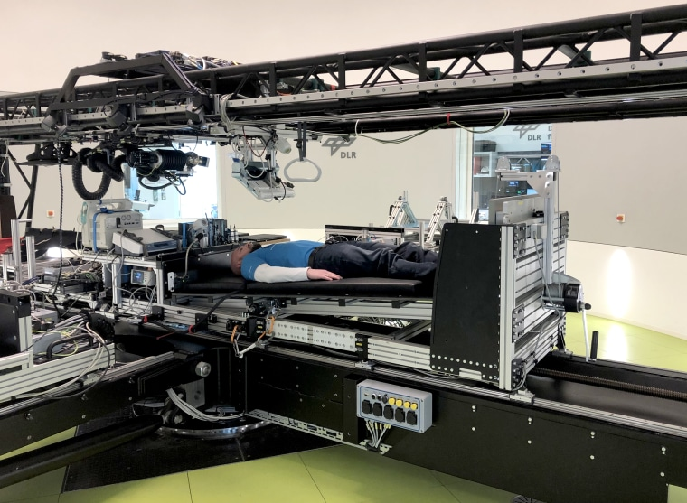 Image: The short-arm centrifuge at the German Aerospace Center's facility will be used during the first joint long-term bed rest study commissioned by ESA and NASA to investigate the potential of artificial gravity in mitigating the effects of spaceflight