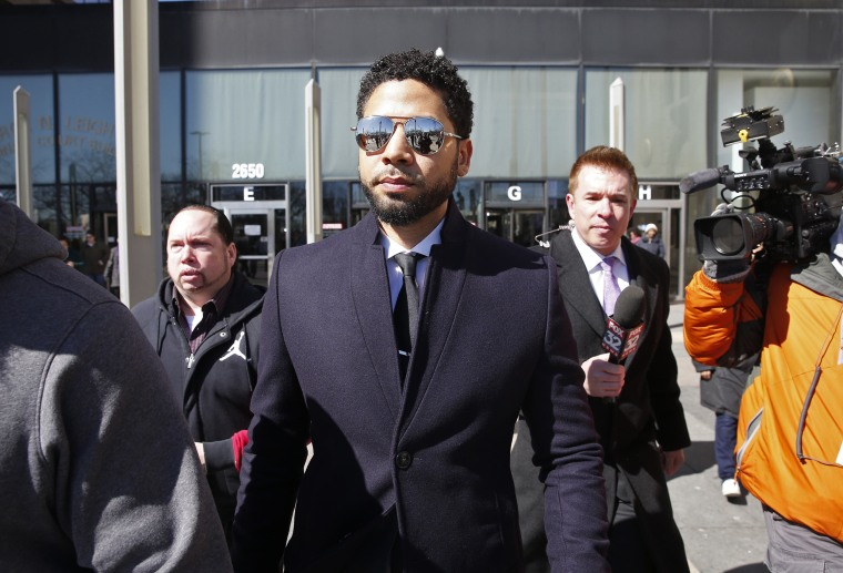 Image: BESTPIX - Actor Jussie Smollett Appears Outside Of Court After It Was Announced That All Charges Have Been Dropped Against Him