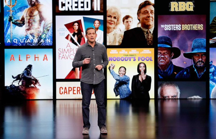 Image: Peter Stern, VP Services for Apple, speaks during an Apple special event at the Steve Jobs Theater in Cupertino