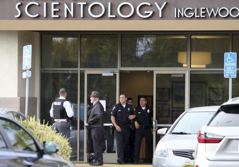 Image: Scientology church shooting scene