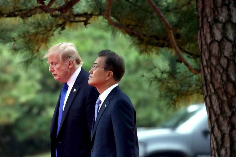Image: U.S. President Donald Trump Visits South Korea - Day 1
