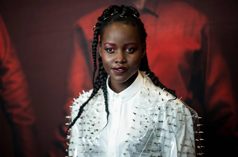 """Image: Actress Lupita Nyong'o arrives for the New York premiere of \""""US\"""" at the Museum of Modern Art"""