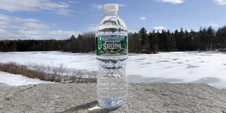 A bottle of Poland Spring water on a granite slab in East Derry, N.H. on March 5, 2013.