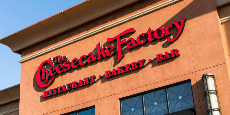 A logo sign outside of a Cheesecake Factory restaurant location in Annapolis, Maryland on April 29, 2018.