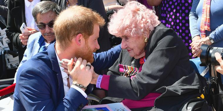 Prince Harry's #1 fan dies at 99