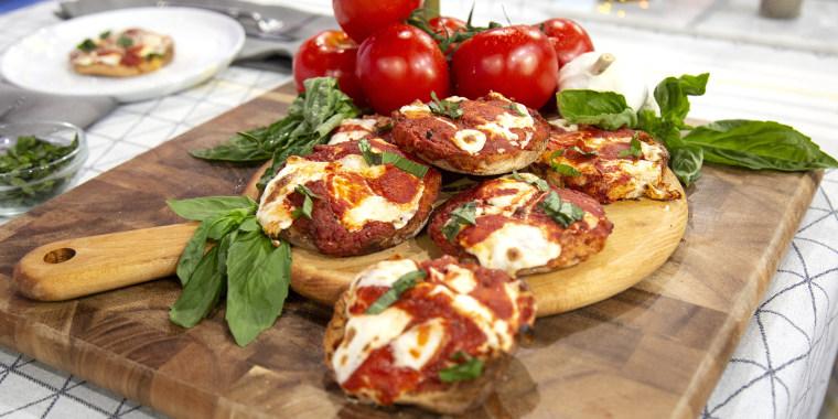 Mark Iacono's English Muffin Pizza + Meatball Salad